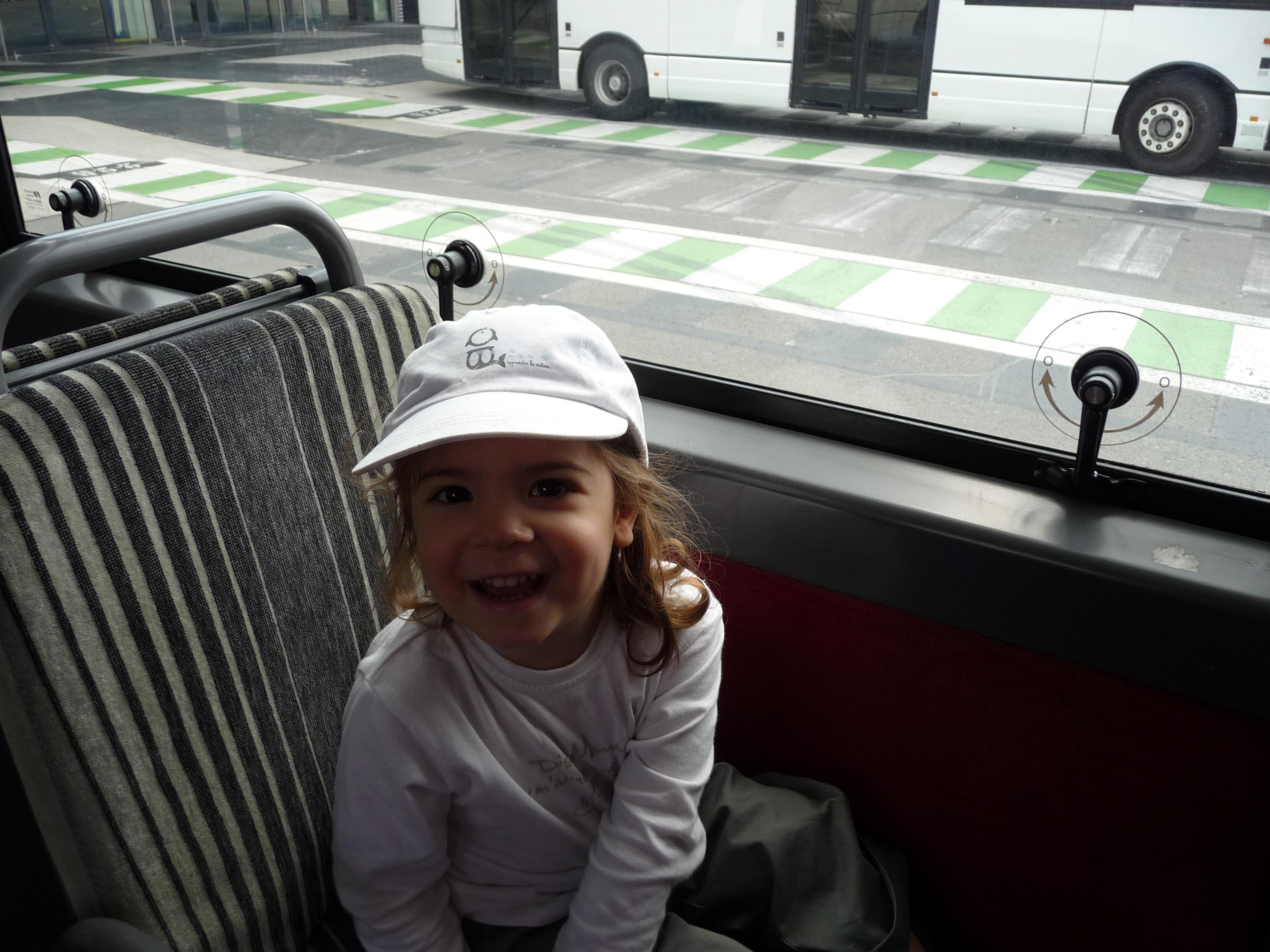 Dans la navette de l'aéroport